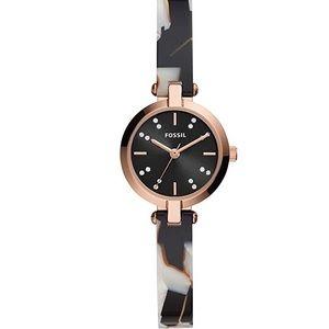 NWT! Kerrigan Mini Watch Ladies Fossil BQ3582